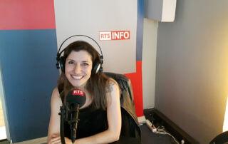 """Christine Moussot, auteure de """"Femmes faites-vous entendre. S'affirmer par le travail de la voix"""" en interview sur RTS la Radio Suisse"""